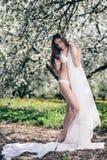 Ursnygg brunett Royaltyfri Foto