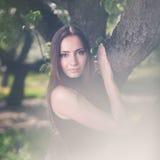 Ursnygg brunett Royaltyfria Bilder