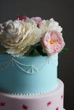 Ursnygg färgrik bröllopstårta Royaltyfria Bilder