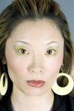 ursnygg headshotjapankvinna arkivfoto