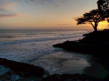 Ursnygg Santa Cruz solnedgång Arkivbilder