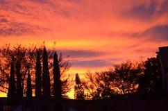 Ursnygg SoCal solnedgång arkivbild