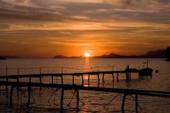 ursnygg solnedgång fotografering för bildbyråer