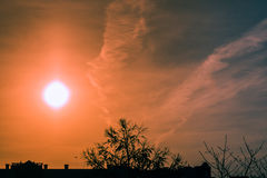 ursnygg soluppgång Arkivfoto