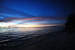 Ursnygg strand Arkivfoton