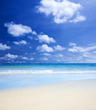 Ursnygg strand Arkivfoto