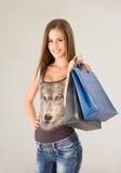 Ursnygg ung shoppare. Royaltyfri Fotografi