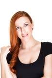 Ursnygg vänlig ung rödhårig mankvinna arkivfoton