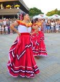 Ursnygga mexicanska dansare Arkivfoto