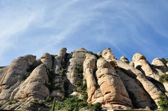 Ursnygga Montserrat Mountains i Catalonia Spanien arkivbilder