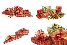 ursnygga presents för jul arkivfoto