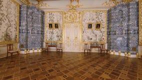 Ursnygga rum och inre av Catherine Palace i St Petersburg