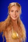 ursnyggt övre för blond tät ny flicka Royaltyfri Foto