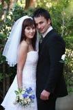 ursnyggt bröllop för par Royaltyfria Bilder