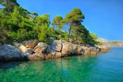 ursnyggt landskap för aquamarine Arkivfoto
