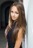 ursnyggt model barn för brunett Fotografering för Bildbyråer