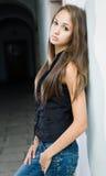 ursnyggt model barn för brunett Royaltyfri Foto
