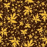 Ursnyggt sömlöst blom- royaltyfri illustrationer