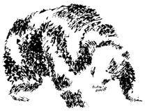 Urso abstrato ilustração royalty free