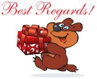 Urso alegre Imagens de Stock
