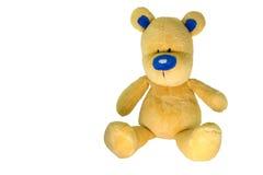 Urso amarelo, com um nariz azul. Fotos de Stock