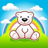 Urso & arco-íris Fotografia de Stock