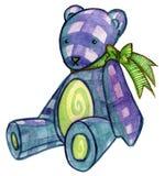 Urso azul da peluche Imagens de Stock