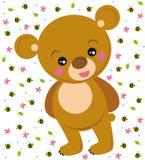 Urso bonito ilustração do vetor
