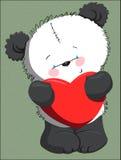 Urso bonito com coração Fotos de Stock Royalty Free