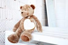 Urso bonito da peluche fotografia de stock