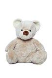 Urso bonito da peluche sobre o branco Imagens de Stock Royalty Free