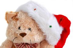 Urso bonito do luxuoso do Natal com capota Imagem de Stock Royalty Free