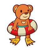 Urso bonito dos desenhos animados Fotos de Stock Royalty Free