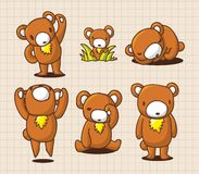 Urso bonito dos desenhos animados Foto de Stock Royalty Free