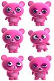 Urso bonito dos desenhos animados Foto de Stock