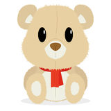 Urso bonito dos desenhos animados isolado no fundo branco Foto de Stock