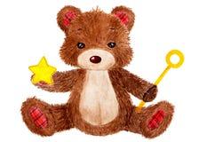 Urso bonito Ilustração da aguarela ilustração royalty free