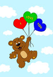 Urso com balões Foto de Stock Royalty Free