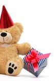 Urso com caixa de presente fotografia de stock royalty free