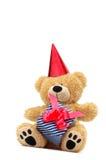Urso com caixa de presente foto de stock