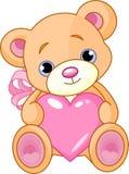 Urso com coração Foto de Stock Royalty Free