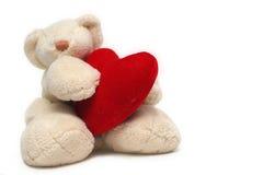 Urso com coração Foto de Stock