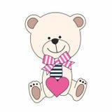 Urso com coração Ilustração Royalty Free