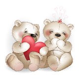 Urso com coração Fotografia de Stock Royalty Free