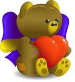 Urso com coração Imagens de Stock