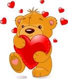Urso com coração Fotos de Stock
