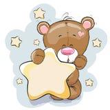 Urso com estrela Imagem de Stock