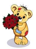 Urso com flores Imagens de Stock