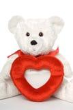 Urso com frame 003 do coração Fotografia de Stock