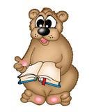 Urso com livro Fotos de Stock Royalty Free